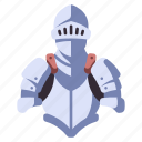 medieval, steel, warrior, armor, knight, suit, war icon