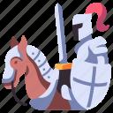 medieval, horse, shield, horseback, armor, knight, sword icon