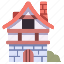 medieval, town, house, architecture, village, building, home icon