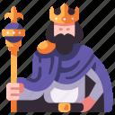 medieval, kingdom, king, crown, royal, history icon