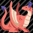 medieval, monster, dragon, flying, fantasy, creature, mythology icon