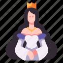 medieval, fairytale, lady, hair, dress, princess icon