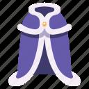 fur, medieval, mantle, king, royal, costume, robe icon