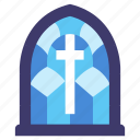old, medieval, stained, church, glass, window, cathedral icon