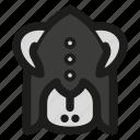 battle, game, helmet, horned, monk, rpg