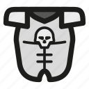 armor, armour, skull, game, rpg icon