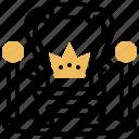 emperor, kingdom, palace, rule, throne icon