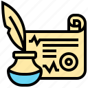 ink, message, note, quill, scroll