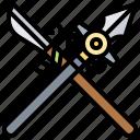 battle, blade, spear, warrior, weapon