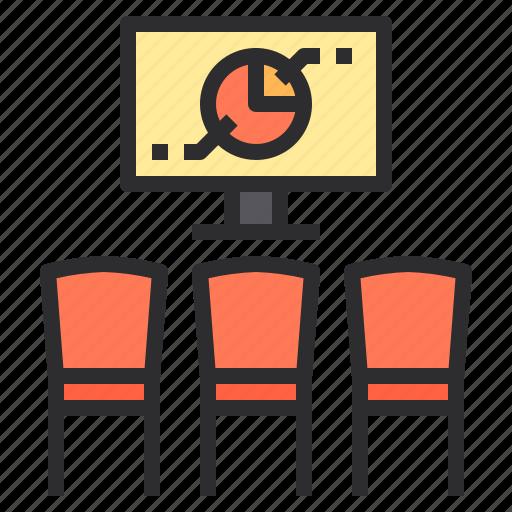 chart, communication, meeting, sharing icon