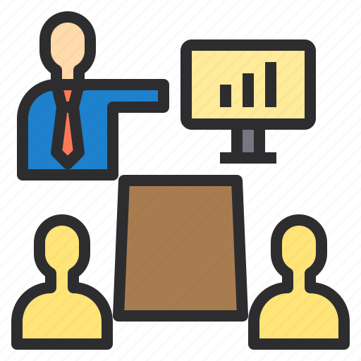 Communication, meeting, presentation, sharing icon - Download on Iconfinder