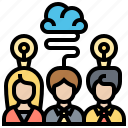 brainstorming, consulting, discussion, ideas, teamwork icon