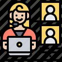 call, center, contact, customer, service icon