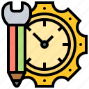 effective, hours, management, schedule, time icon