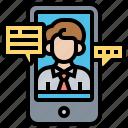 communication, conference, conversation, online, video