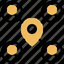 community, destination, goal, meeting, point icon