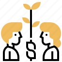 business, cooperation, deal, investment, partnership icon
