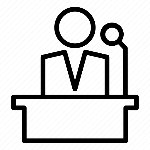 Meeting, conference, podium, speech, presentation icon - Download on Iconfinder