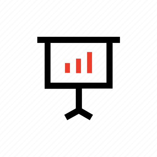 bar chart, conference, meeting, presentation, projector, screen, statistics icon