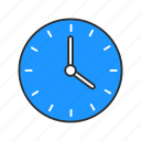 alarm, clock, wall clock, watch icon