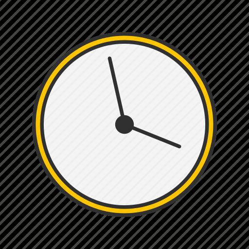 alarm clock, clock, wall clock, watch icon