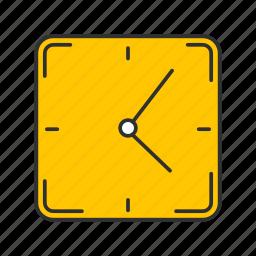 alarm, clock, wall clock, watch icon