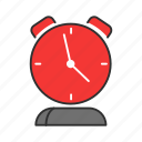 alarm clock, analog clcok, clock, timer icon