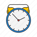 alarm clock, analog clock, clock, watch icon