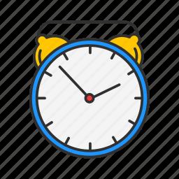alarm clock, analog clock, clock, watch icon
