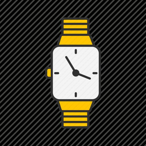 clock, time piece, watch, wrist watch icon
