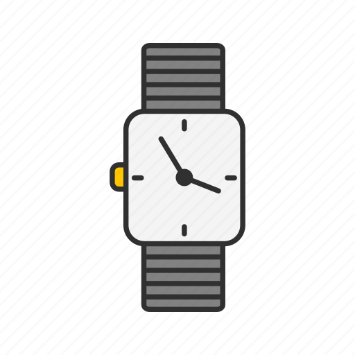 clock, digital clock, watch, wrist watch icon
