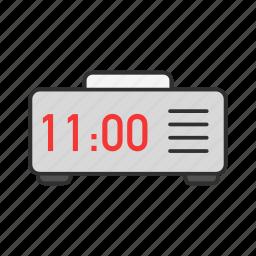 alarm clock, clock, digital clock, watch icon