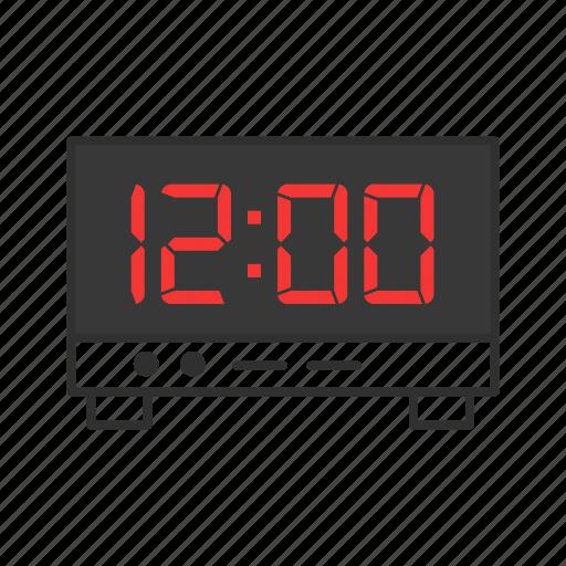 clock, digital clock, timer, watch icon