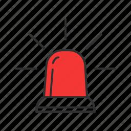 alarm, alert, siren, warning icon