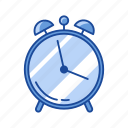 alarm, alarm clock, analog clock, watch icon