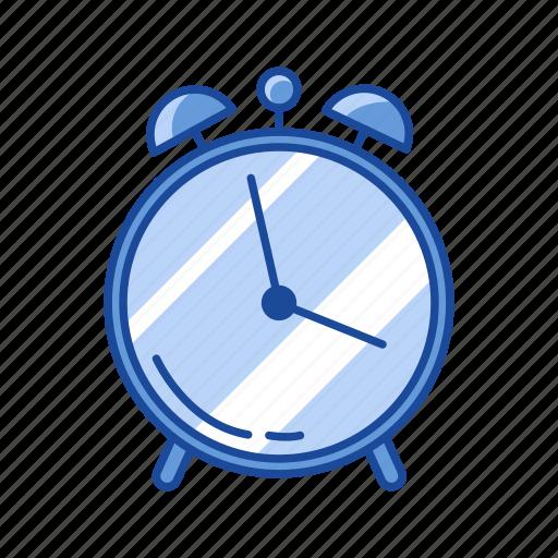 alarm, alarm clock, analog clock, watch icon