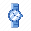 alarm, clock, watch, wrist watch icon