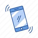 mobile, phone, phone alarm, phone ringing icon
