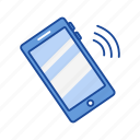 alarm, mobile, phone, phone ringing icon
