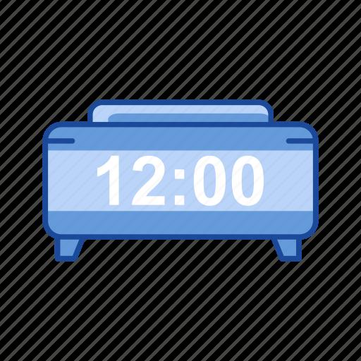 clock, date, digital alarm clock, watch icon