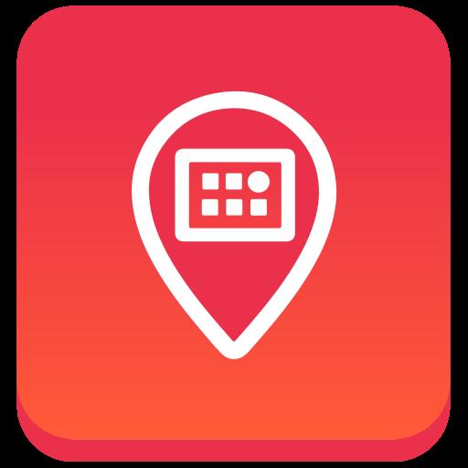 gradient, meetvibe, social, square icon