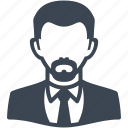 avatar, businessman, man, user icon