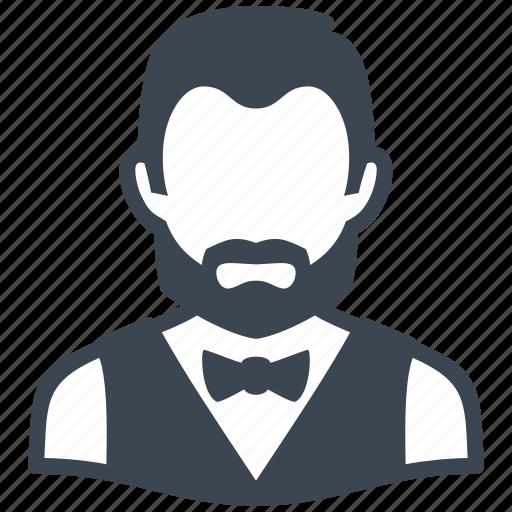 avatar, man, user, waiter icon