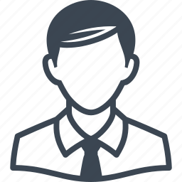 account, avatar, business, businessman, face, male, man, person, profile, shirt, student, tie, user icon