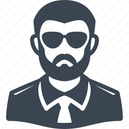 avatar, glasses, male, man, spy, user icon