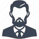 avatar, businessman, male, man, user icon