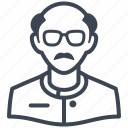 avatar, man, scientist, teacher icon