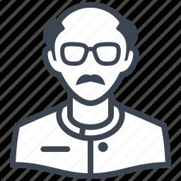 avatar, man, scientist, teacher icon