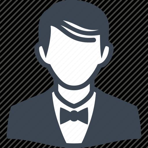 avatar, elegant, man, user icon
