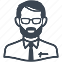 avatar, businessman, male, man, teacher, user icon